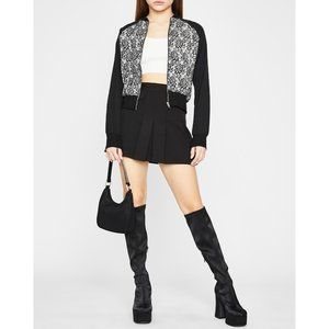 NEW Dolls Kill | Floral Lace Bomber Jacket